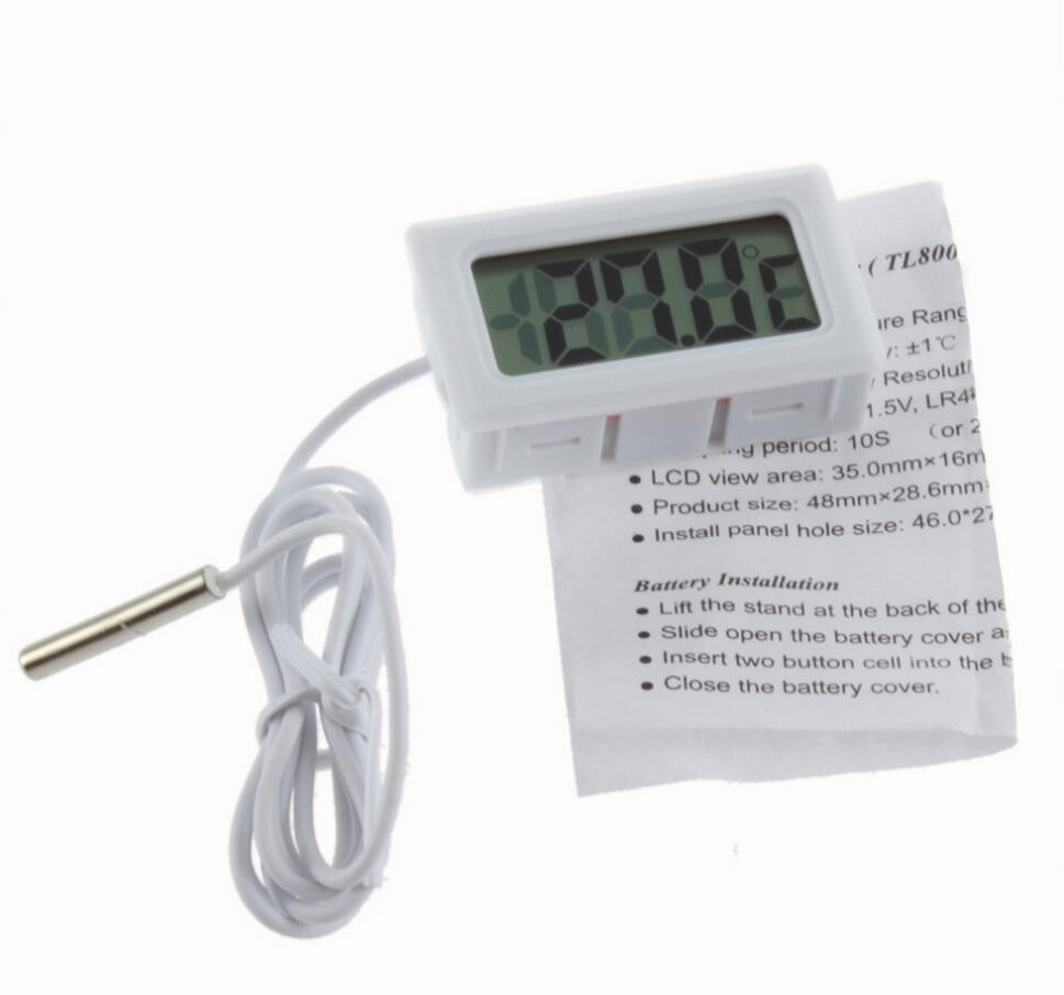 1Pcs Temperature Measurement LCD Display Thermometer Digital For Aquarium Freezer black and white color