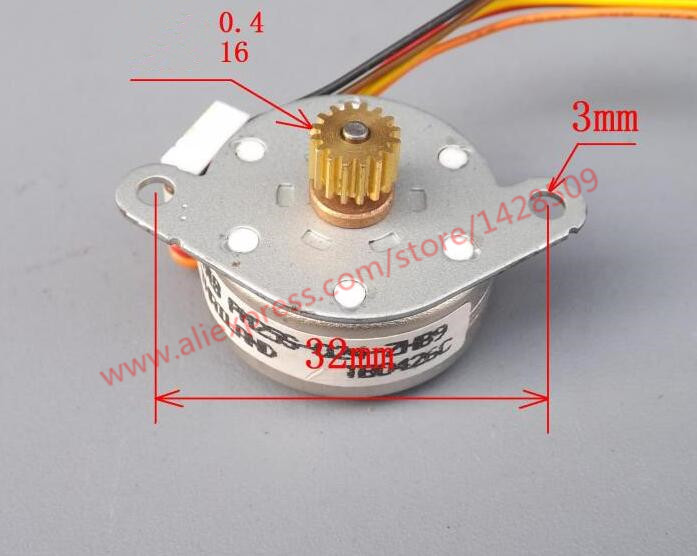 four-phase five wire mini stepper motor stepping motor mini motor 25mm*11mm stepper motor with 0.4 module gear