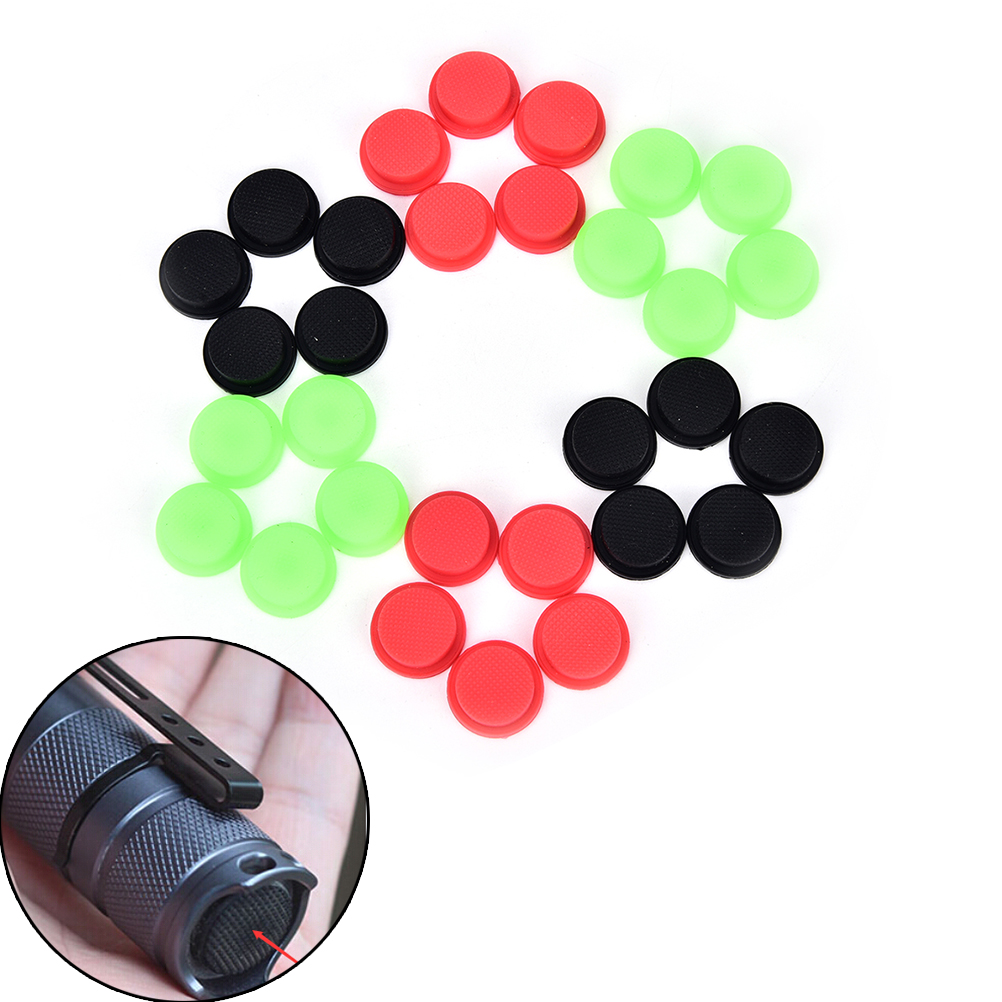 NEW 10Pcs Silicone Tailcaps for Flashlights Flashlight Torch Tailcap