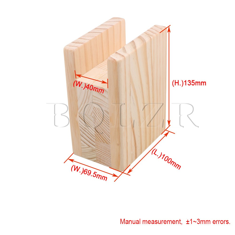 "4x10CM Groove Wood Furniture Lifter Bed Sofa Table Risers Add 4"" Height BQLZR"