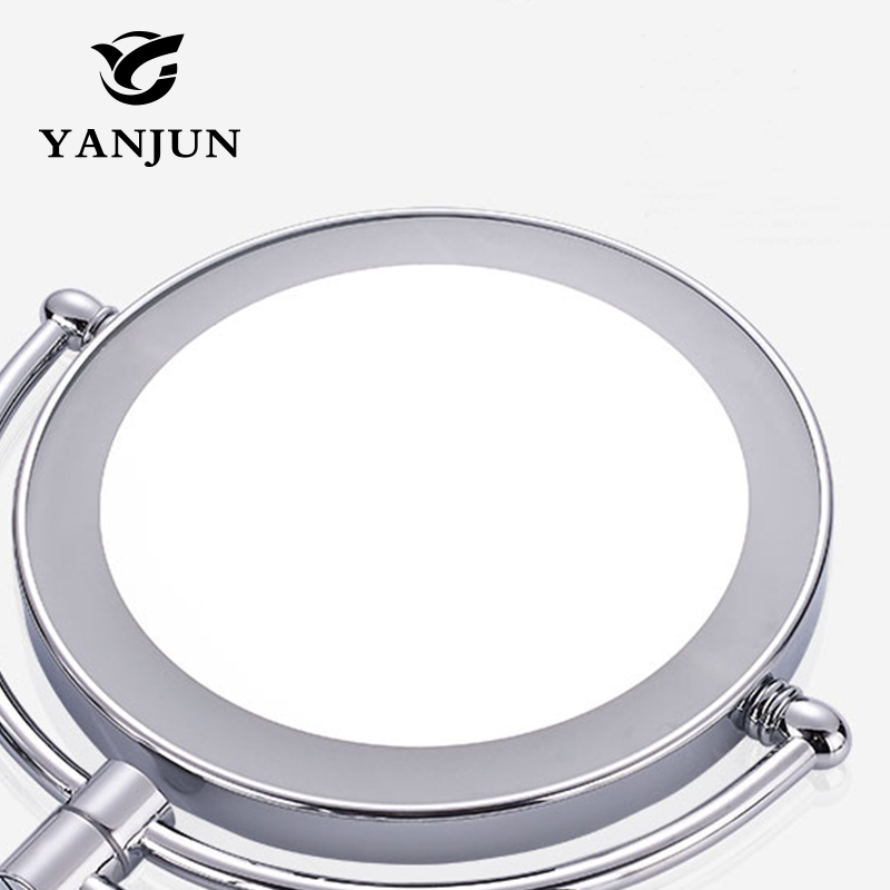Yanjun 8 inches Wall Mount Sensor-Activated Lighted Vanity Mirror3x Magnification Chrome Finish YJ8013