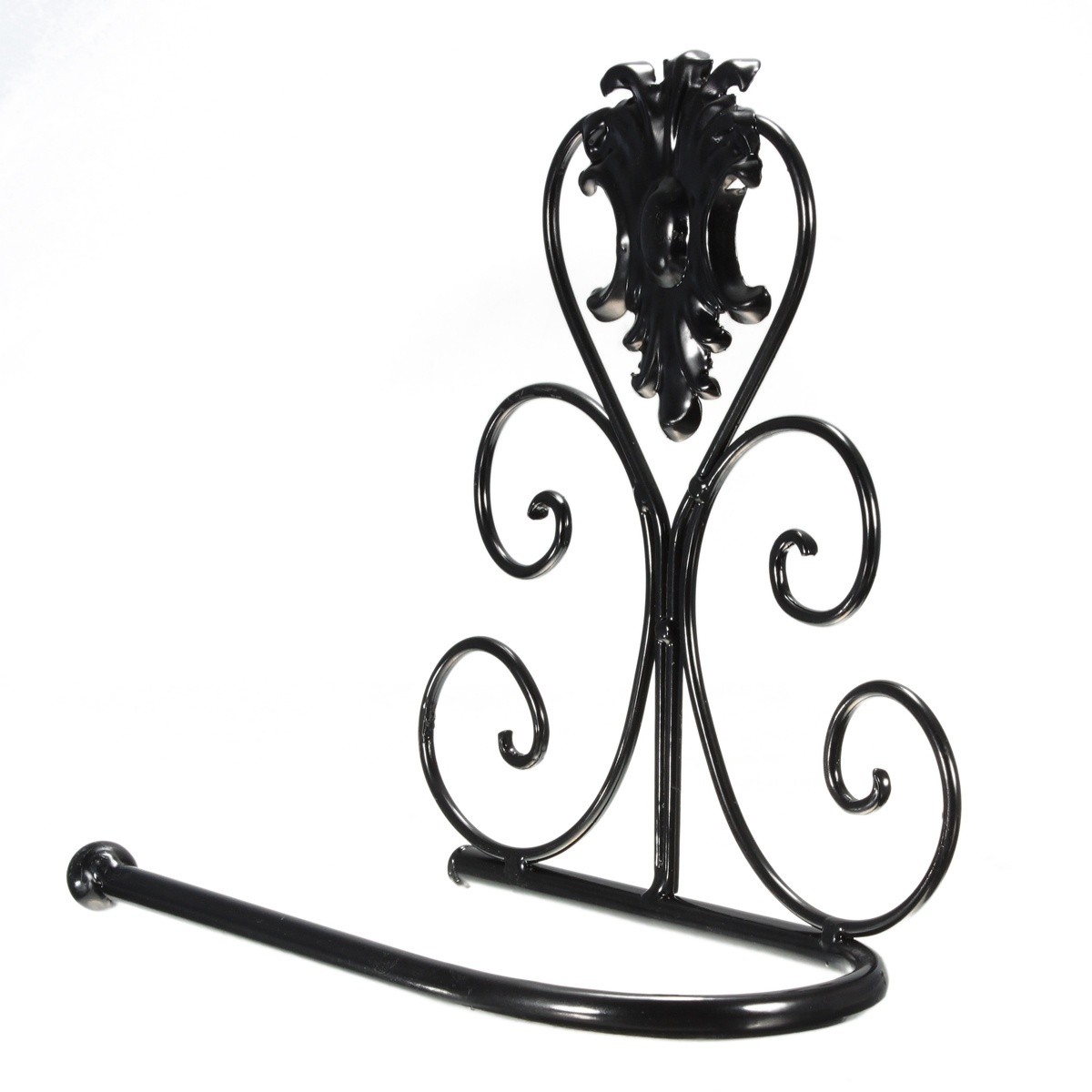 Vintage Classical Iron Toilet Paper Towel Roll Holder Bathroom Wall Mount Rack