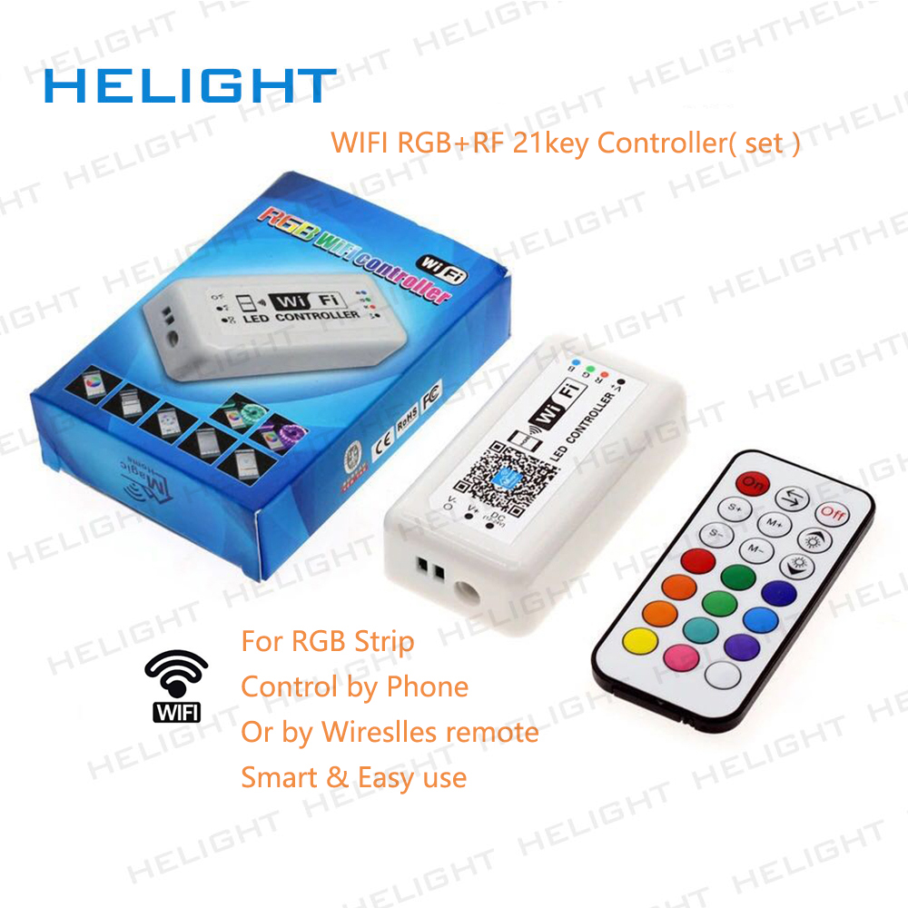 WIFI RF21KEY RGB strip controller DC12-24V Controller for LED Strip IOS Android System control by phone RF Remote Amazon Alexa