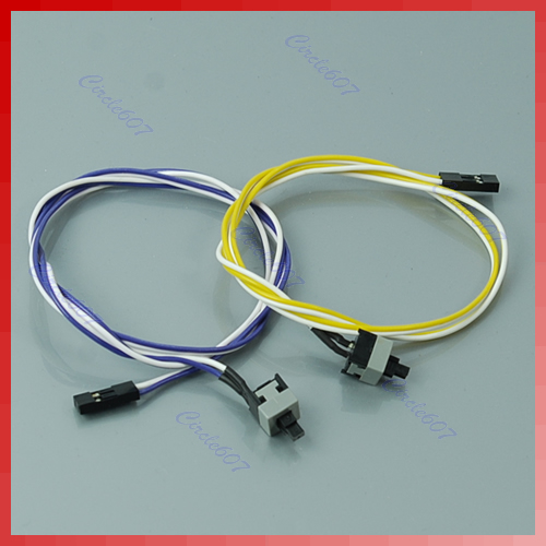 New PC Computer Desktop ATX Power On Supply Reset Cable Cord Switch Connector #S018Y# High Quality