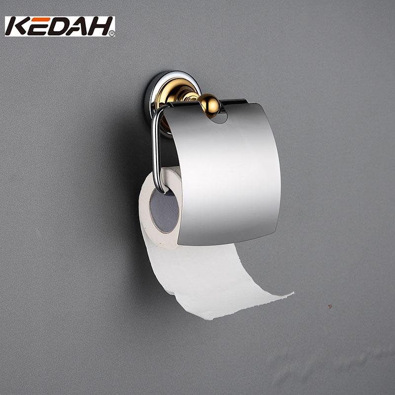 KEDAH Toilet Paper Holders for Bathroom Chrome Plated with Metal Hardware Accessories