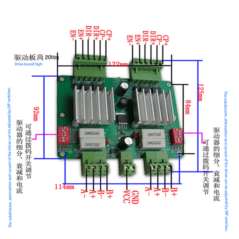42/57 Two Axis  Stepper Motor Driver 3A CNC Motor Driver For Milling Machine Tools THB7128