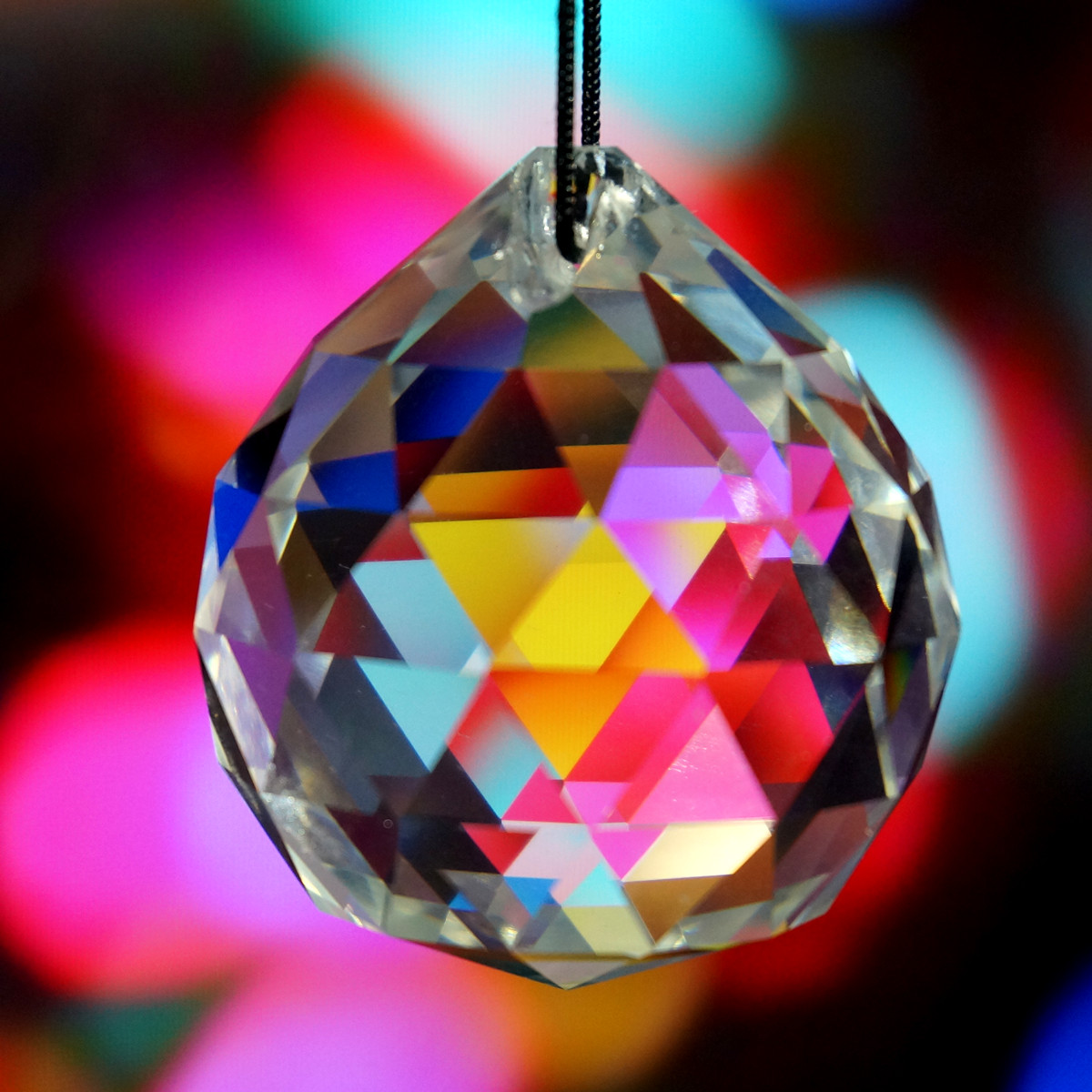 Practical 10pcs Crystal Glass Lamp Chandelier Prisms Party Decor Hanging Drop Pendant 40mm