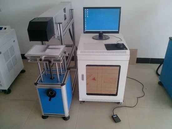 Wuhan bcxlaser CO2 Laser Marking Machine for Leather and Cloth
