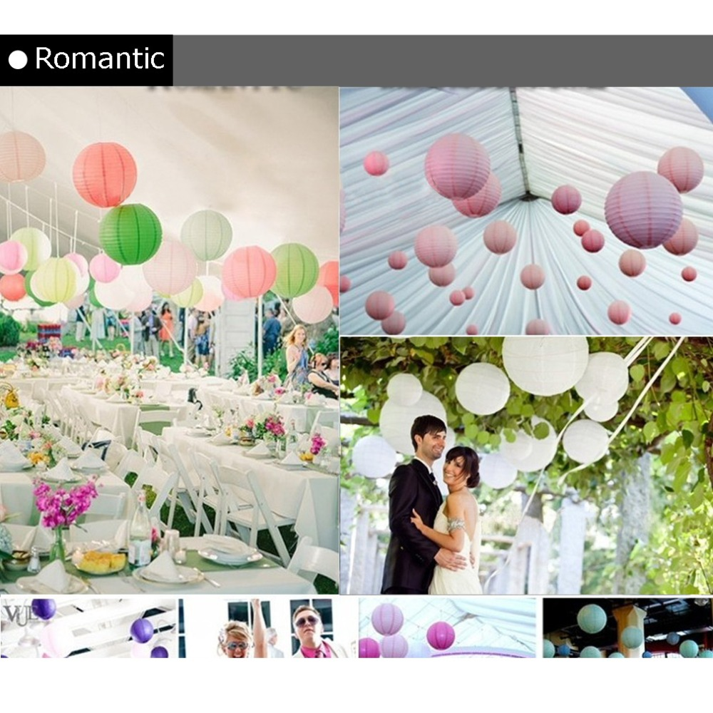Multi Colored Chinese Paper Lanterns 20cm for Wedding Event Party Decoration Holiday Supplies Paper Ball 7 colors