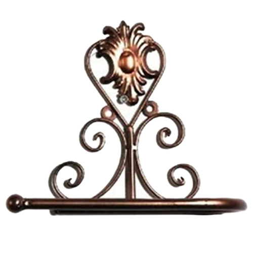 European Style Iron Toilet Roll Paper Holder Wall Mount Rack