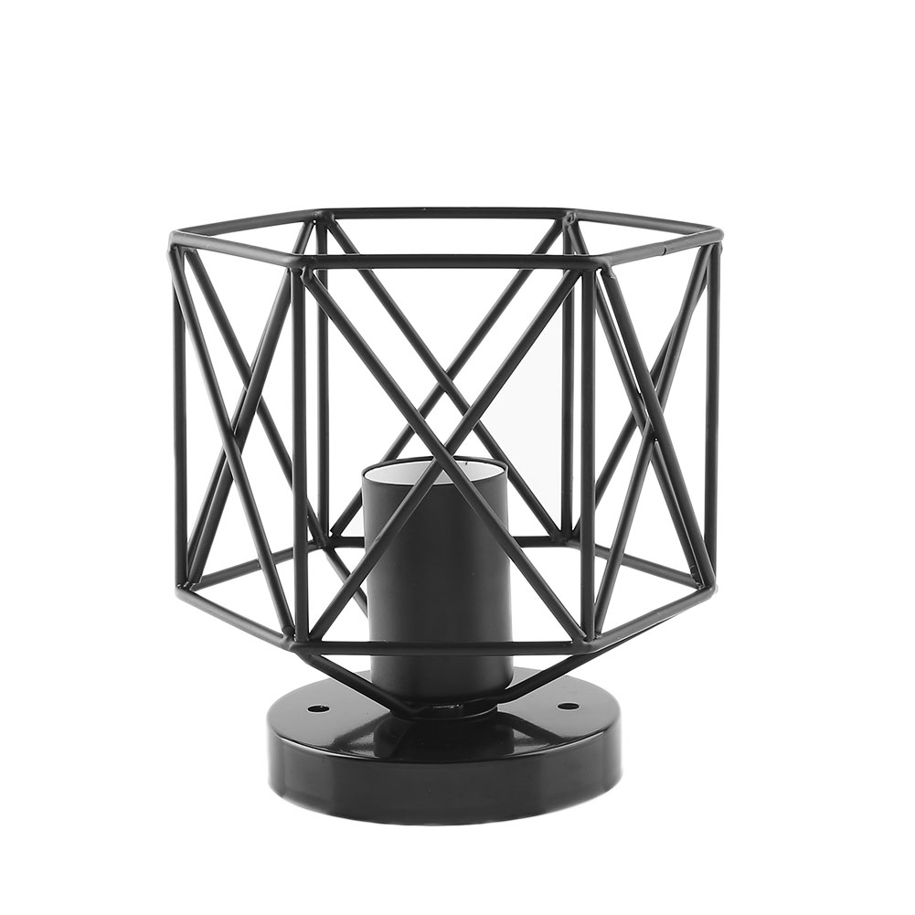 Vintage Retro Iron Cage Lampshade Pendant Lamp Cover Lighting Accessory