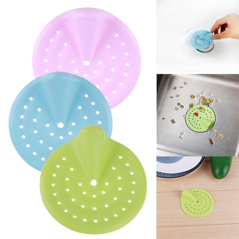 1PCS candy color hair Catcher Bath Stopper Strainer Shower Cover Kitchen Bathroom Basin Sink Strainer Filter Drain Strainer NEW