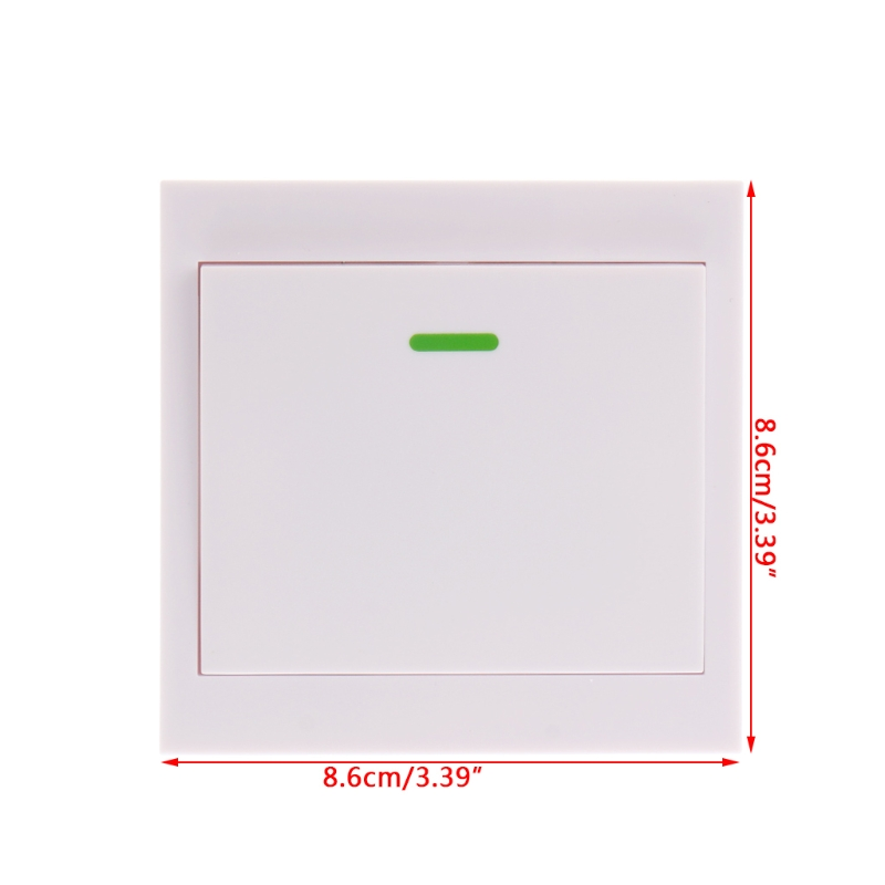 1Pc 86 Wall Panel Wireless Remote Transmitter 1/2/3 CH Sticky RF TX Smart Home Room 315 Mhz