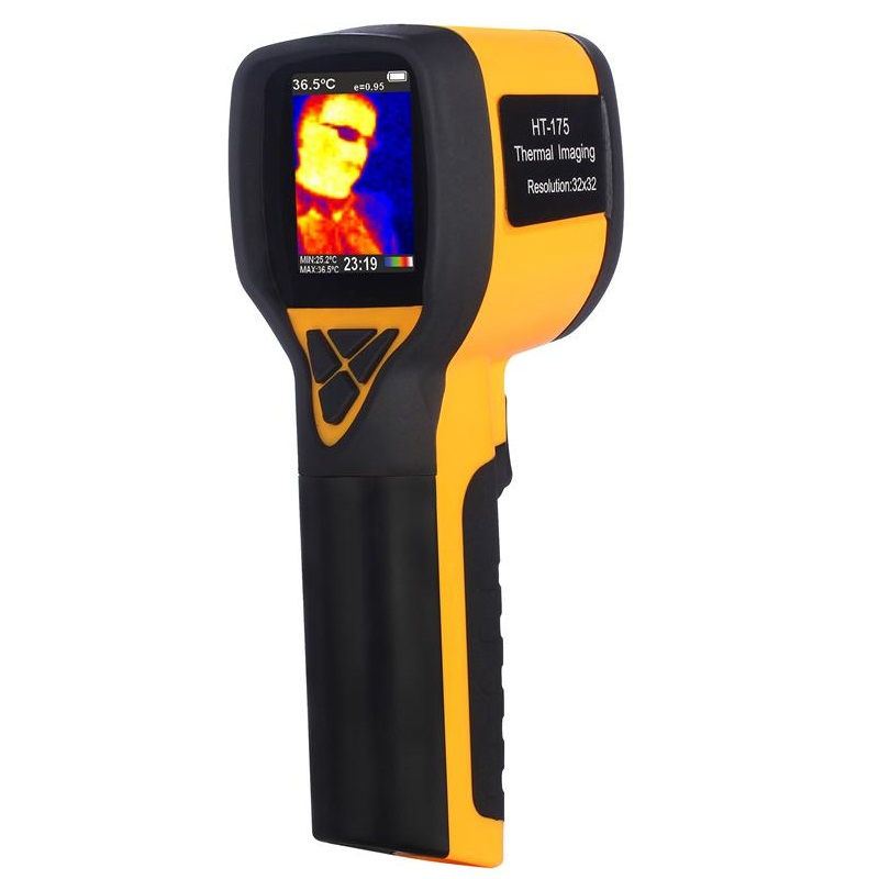 HT-175 Digital IR Infrared Thermal Camera Handheld Thermal Imager For Hunting Tools Colorful Screen -20-300 Degree 32X32