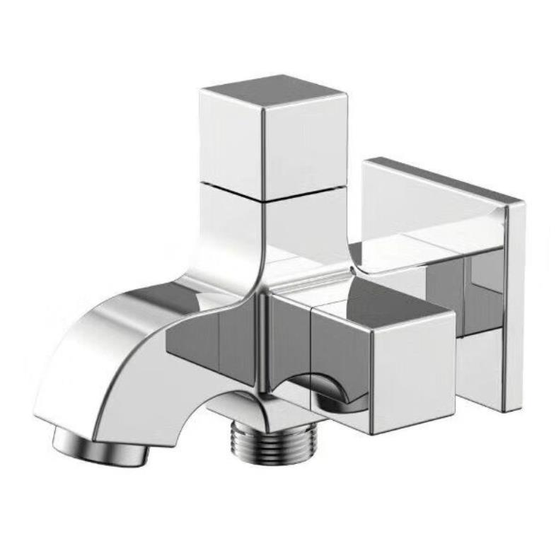 Fee Shipping Chrome Bibcock Faucet Brass Wall mounted Bathroom Washing Machine tap garden faucet Outdoor bathroom water mixer