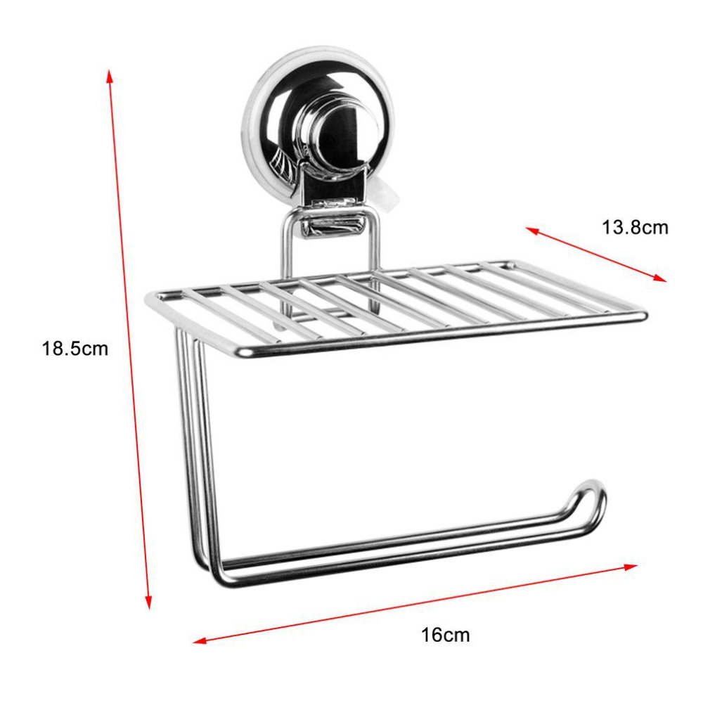 2 in 1 Stainless Steel Wall Mount Toilet Tissue Rack Mobile Phone Roll Towel Paper Storage Holder Bathroom Accessories