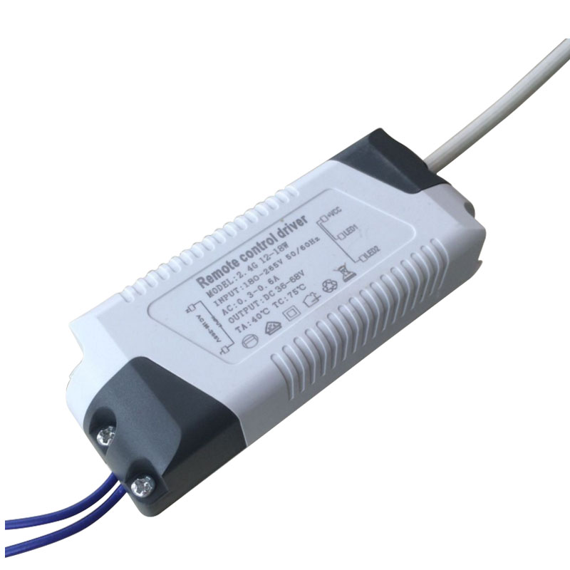 12-18W 300mA,2.4G remote control LED driver lighting transformer for color-changeable,dimming panel light downlight ceiling lamp