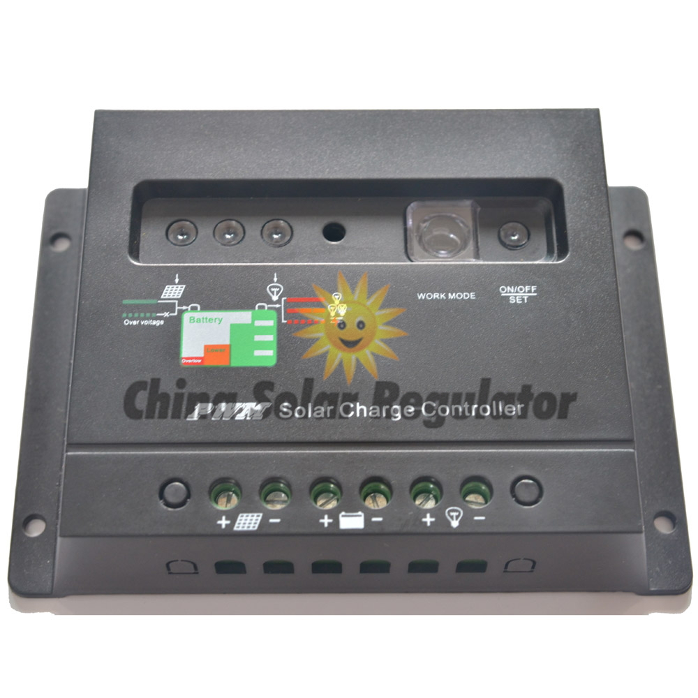 10PCS 20A Solar Charge Controller 12V 24V Auto Switch 20 Amps Solar Regulators with Light and Timer Control LED Indicator