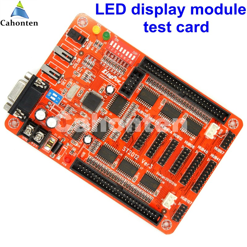 multi-function led screen display module Testing card For single/doule/Full Color module testing,aging ,repair maintainence