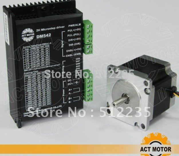 nema 23 stepper motor 57 stepper motor 56MM  + DM542 driver segments 4A 128 segments stepping motor