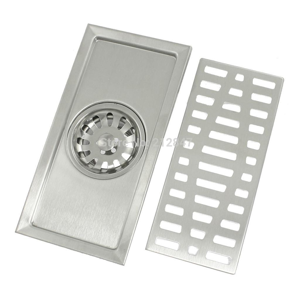 Rectangle Cover Stainless Steel Two Way Filter Floor Drain