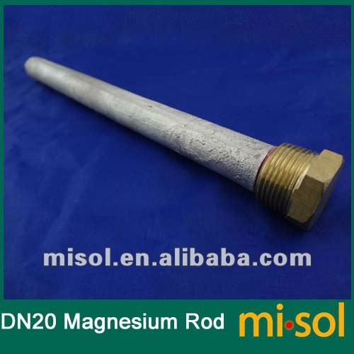 10pcs/lot Magnesium Anode Rod cleaning for Pressurized solar water heater DN20