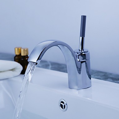 Bathroom sink basin mixer tap chromed polished  brass Faucet
