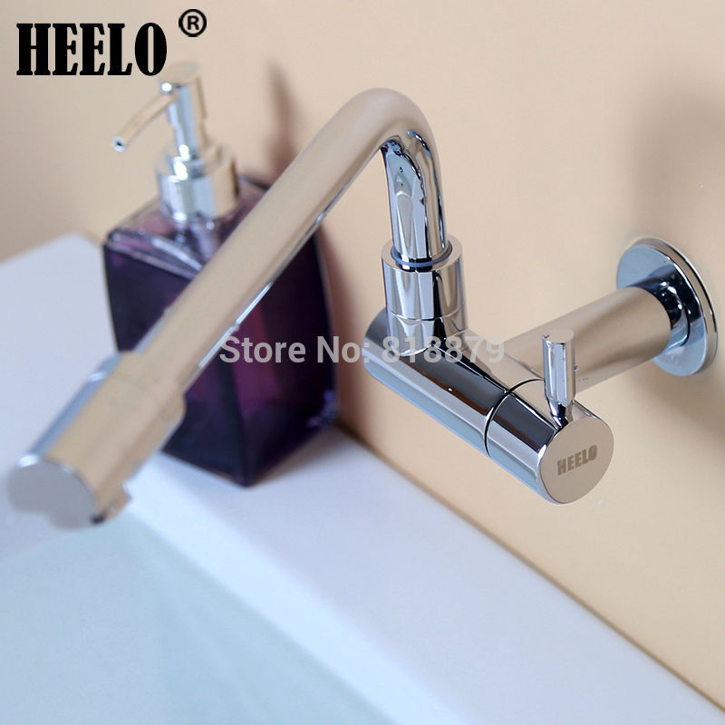 1/2 Longer kitchen swiveling tap bathroom lavatory basin rotating single cold water tap outdoor garden wall tap bibcocks
