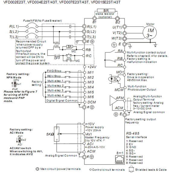 Delta Inverter VFD Variable Frequency Drive VFD002E23T ... on