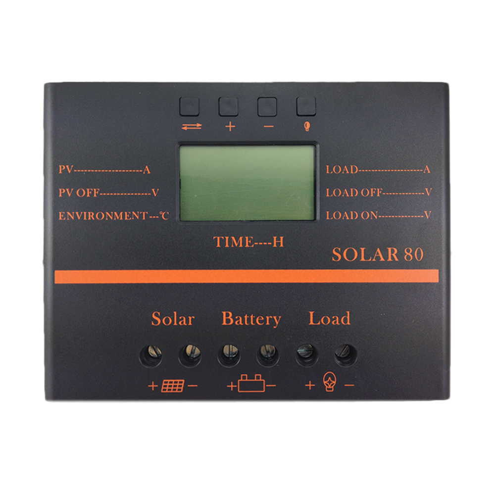 80A Solar Controller 5V USB charger for mobile phone 12V 24V PV panel Battery Charge Controller Solar system Home indoor use