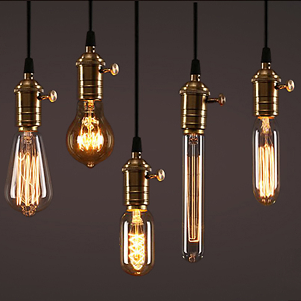 Buy Incandescent Bulb E27 40w Ac 110v T45 Tungsten: E27 G80/G95/G125 40W/60W 220V Filament Light Bulb Vintage