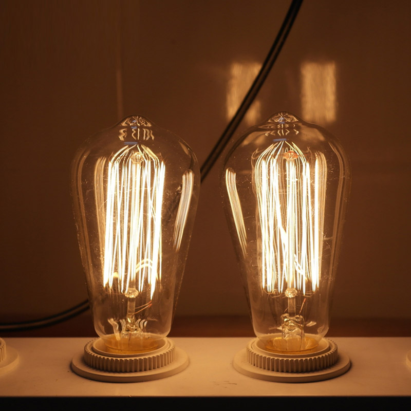 Vintage Edison Bulbs E27 220V Incandescent Bulbs 25W 40W 60W ST64 Filament Bulb Retro Edison Light For Pendant Lamp