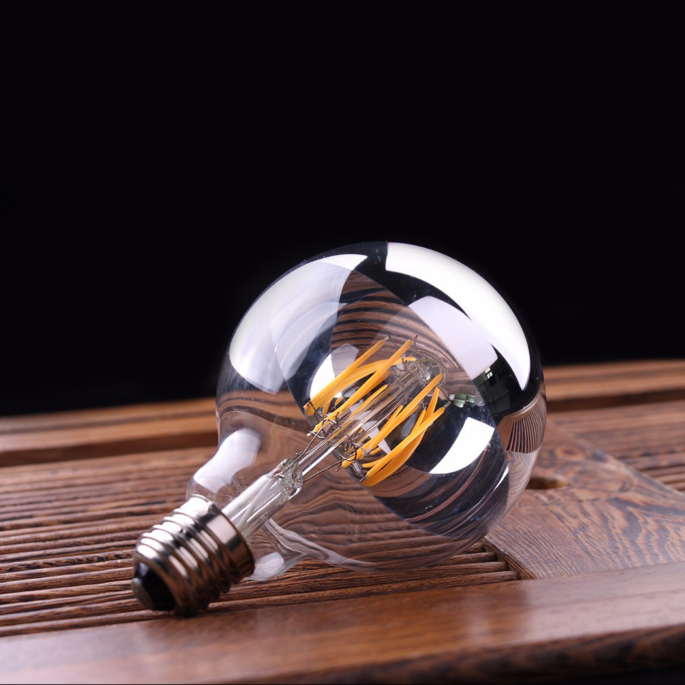 Edison Vintage 110v E26 E27 A19 A60 40w 60w Equivalent: E27 G45 2W LED Bright Filament Glass Light Bulb