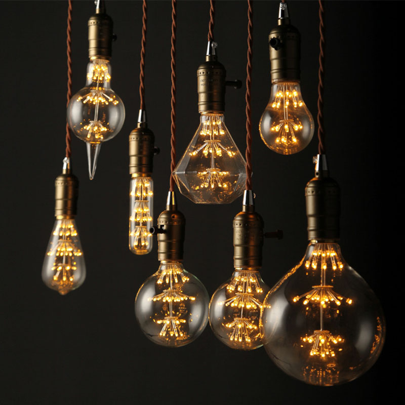New Antique Vintage Retro Edison Light Bulbs 220V E27 40W Incandescent Light Bulbs