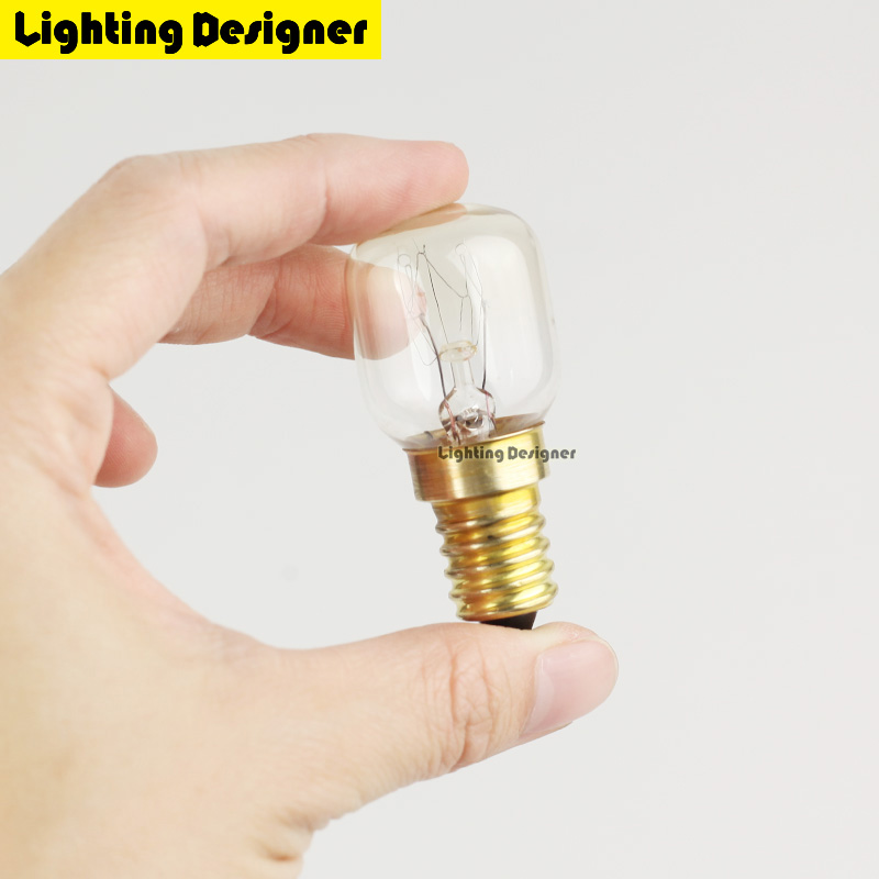 T22 High temperature T25 15W 25W 300 Degree SES E14 OVEN toaster steam 220V steam light bulb cooker hood lamps Salt crystal lamp