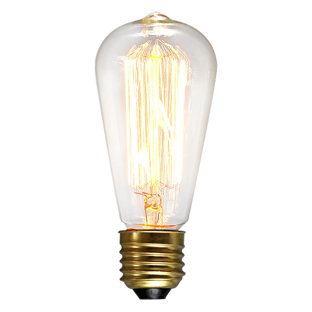 Vintage EDISON 110V 40W Watt Light Bulbs Incandescent Filament US E26 ST64 Bulb