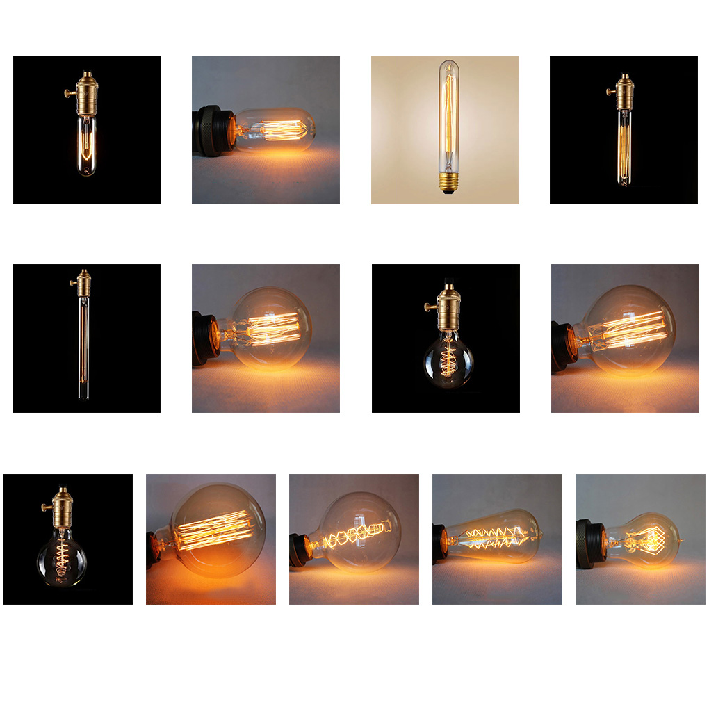 40W Edison Bulb Lamp E27 Tungsten Light Bulbs Wedding Hotel Bar Villa Decoration
