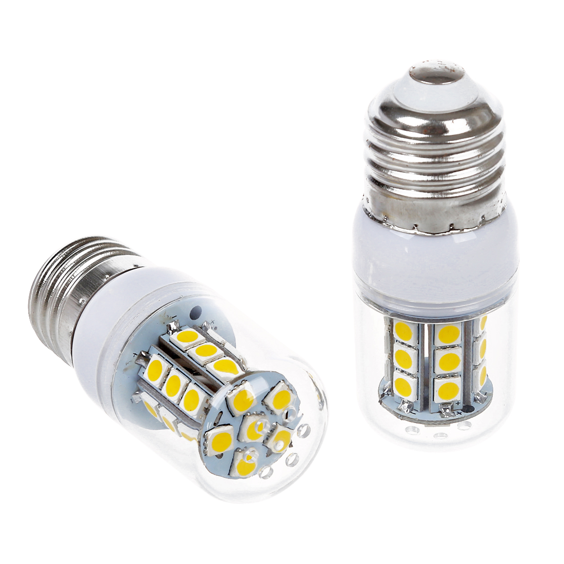 4 X E27 bulb Spot lamp 5050 SMD 27 LED Warm White 3600K 300LM
