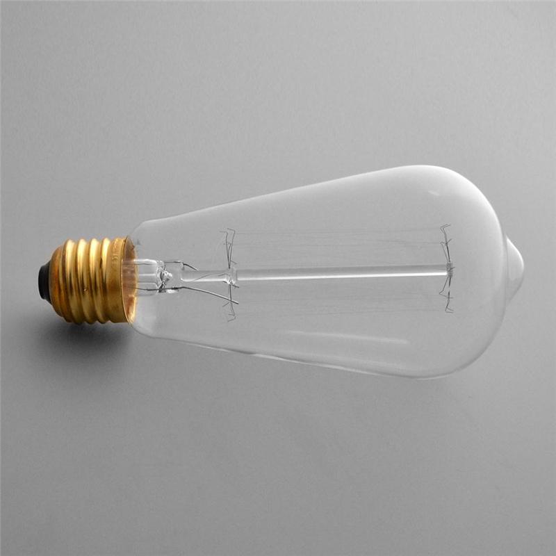 Vintage Retro Edison Bulb E27 St64 220v 40w Industrial Light