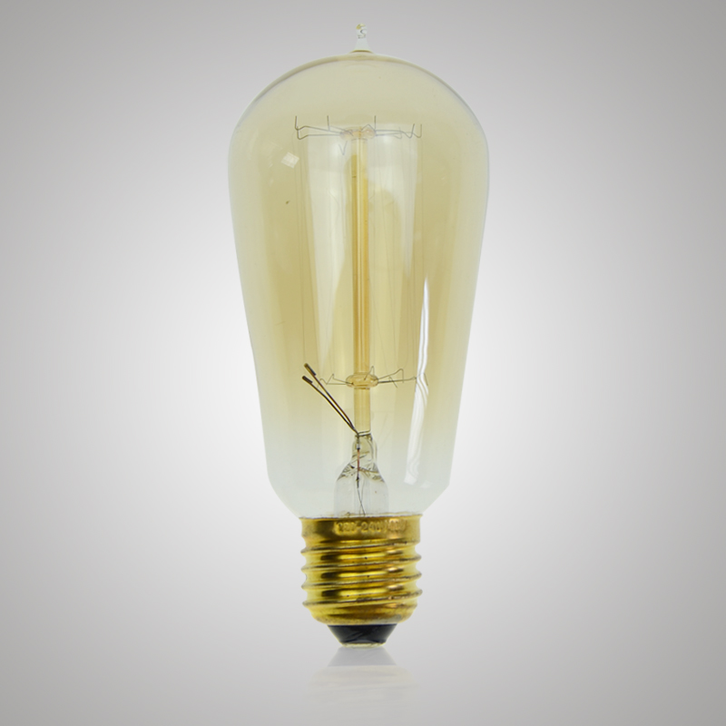 40W ST58 E27 Filament Edison bulbs incandescent lamp Decor Light Bulb Tube filament Tungsten Edison light fixture
