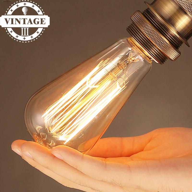 st64 retro edison filament ampoule e27 220v for decor home. Black Bedroom Furniture Sets. Home Design Ideas