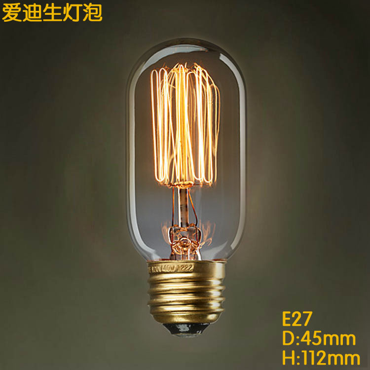 LightInBox 40W E27/E26 110V/220V Pendant Light Lighting Vintage Retro LED Spiral Filament Lamp T45 Straight Line Edison Bulb