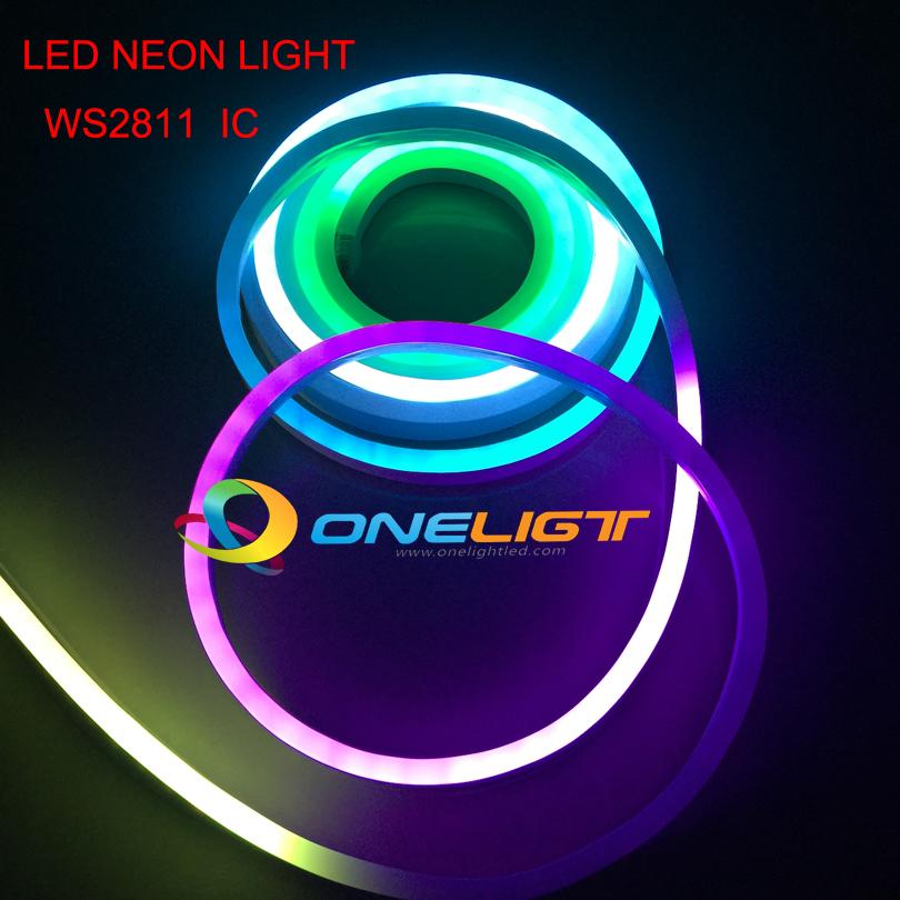 RGB WS2811 IC LED Full Color Flexible LED Neon Flex rope bar light
