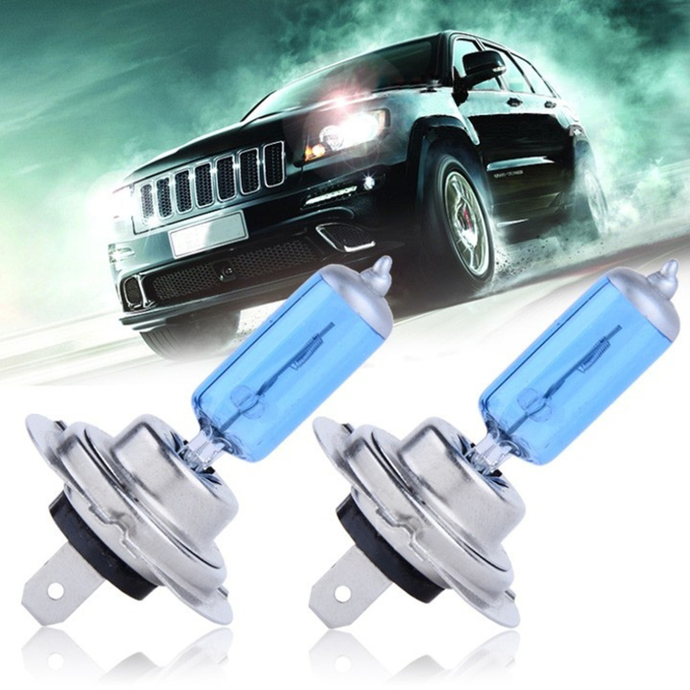 2pcs H7 55W 12V Fog Light Halogen Car Bulb High Power Car Headlights Lamp Car Light Source parking 5000K Bulb lamp Drop Shipping