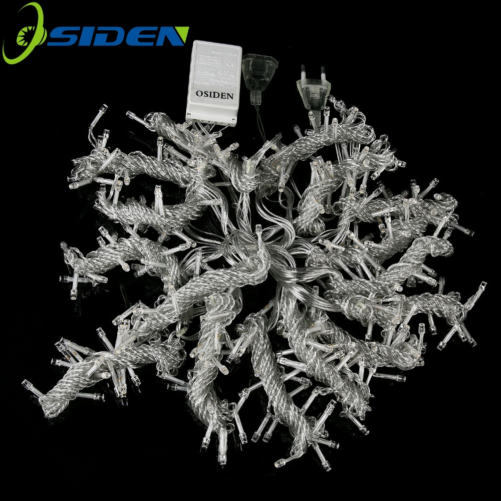 OSIDEN 3MX3M 300LED Curtain Light icicle Christmas Light LED String Fairy Light Garland Birthday Party Garden Wedding 220V 110V