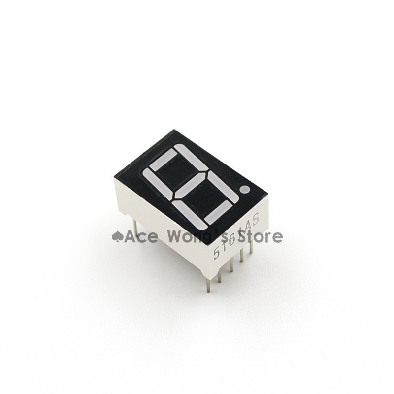 "50Pcs 0.56"" inch 1 Digit 7 Seven Segment Red Light LED Numeric Digital Display,Common Cathode"