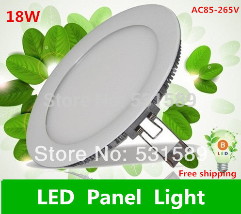 20pcs Ultra-thin LED panel lights 18W LED panel light,Round Supper bright 1480lm Taiwan chip,good quality 110V 220V
