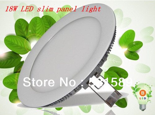 DHL  10pcs  18W Super Bright  led Ceiling Panel Light Cool White/Warm White AC85-265V For Home Garden Party Living Bed Room