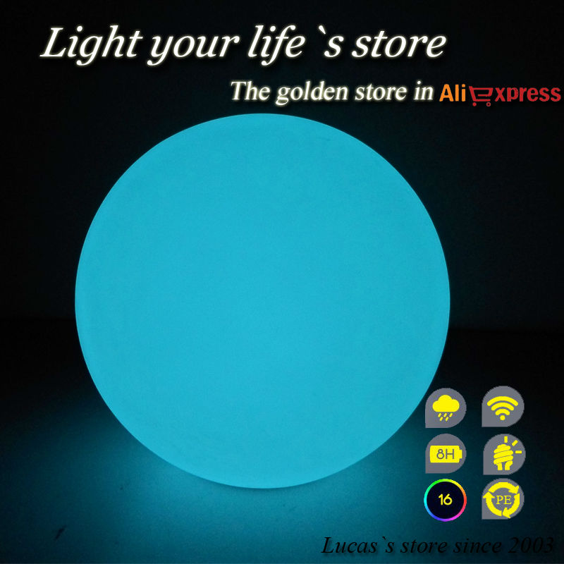 20cm Multi Color Changing Night Light Led Ball garden ball lamp