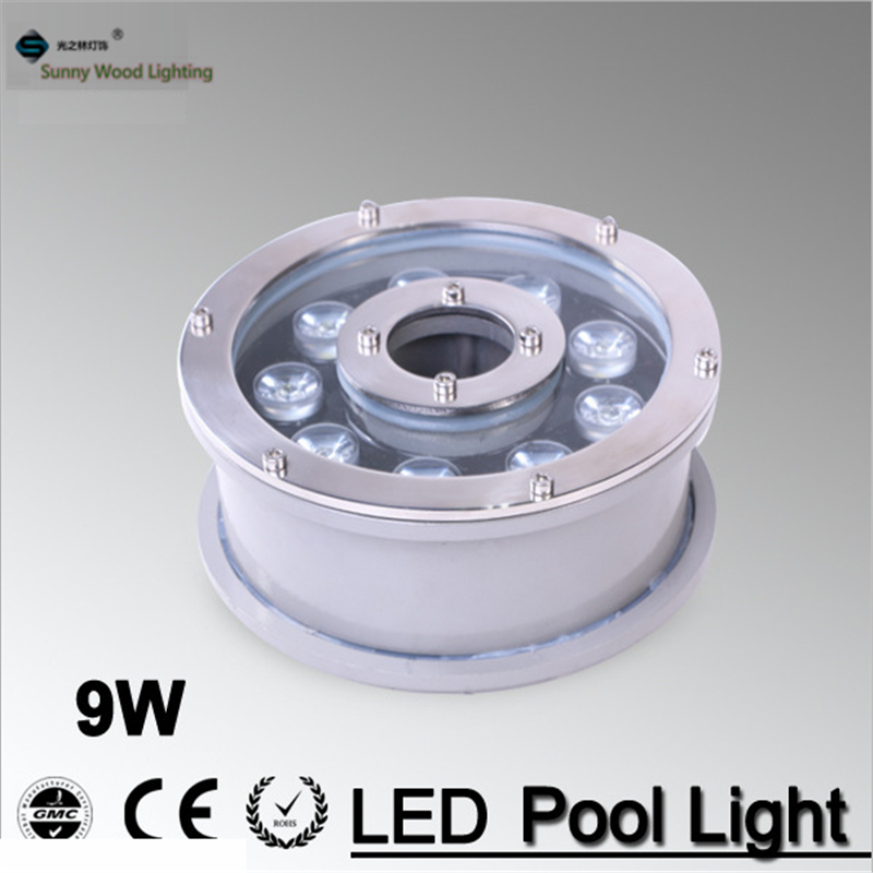 led pool light  , IP68 LED fountain light Led underwater light 9W 12V AC ,outdoor garden landscape lamp LPL-B-9W-12V